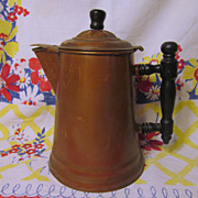 Copper/Brass Hinged Coffee Pot