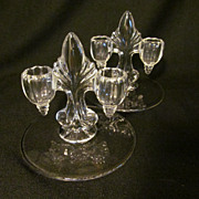 New Martinsville Candle Holder Set