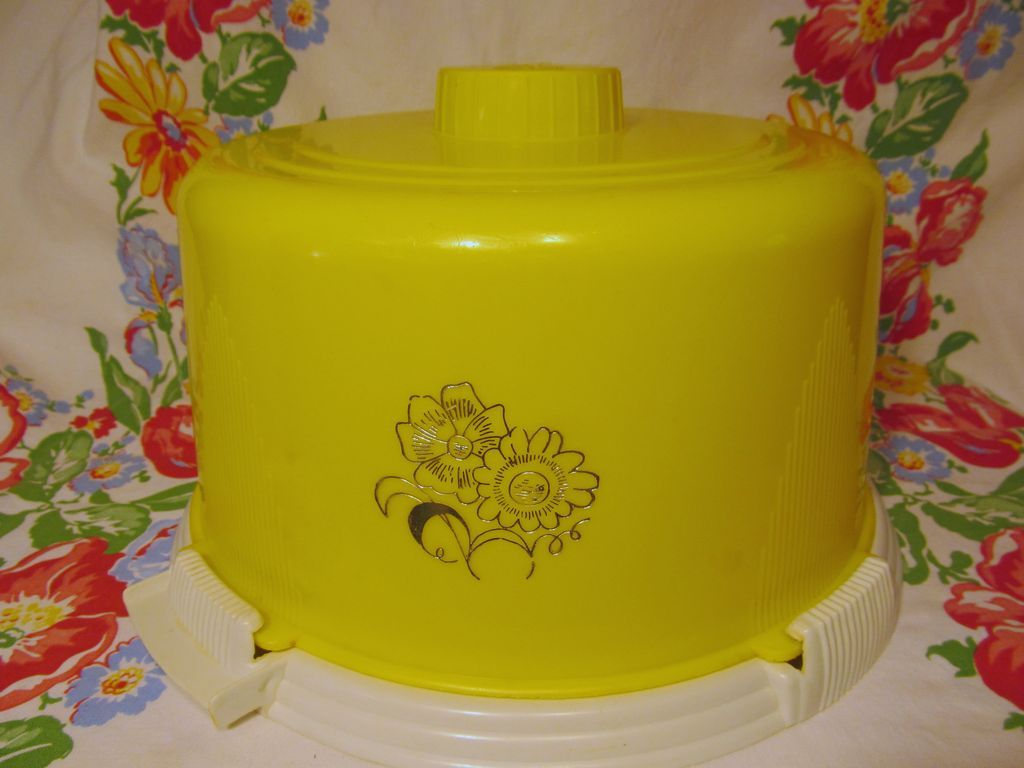 Yellow Plastic Cake Keeper Saver