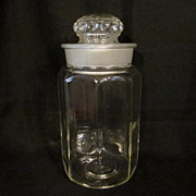 Old 8 Sided Candy  Jar