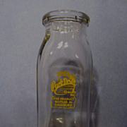Park Drive Dairy,Galesburg Half Pint Milk/Cream Bottle