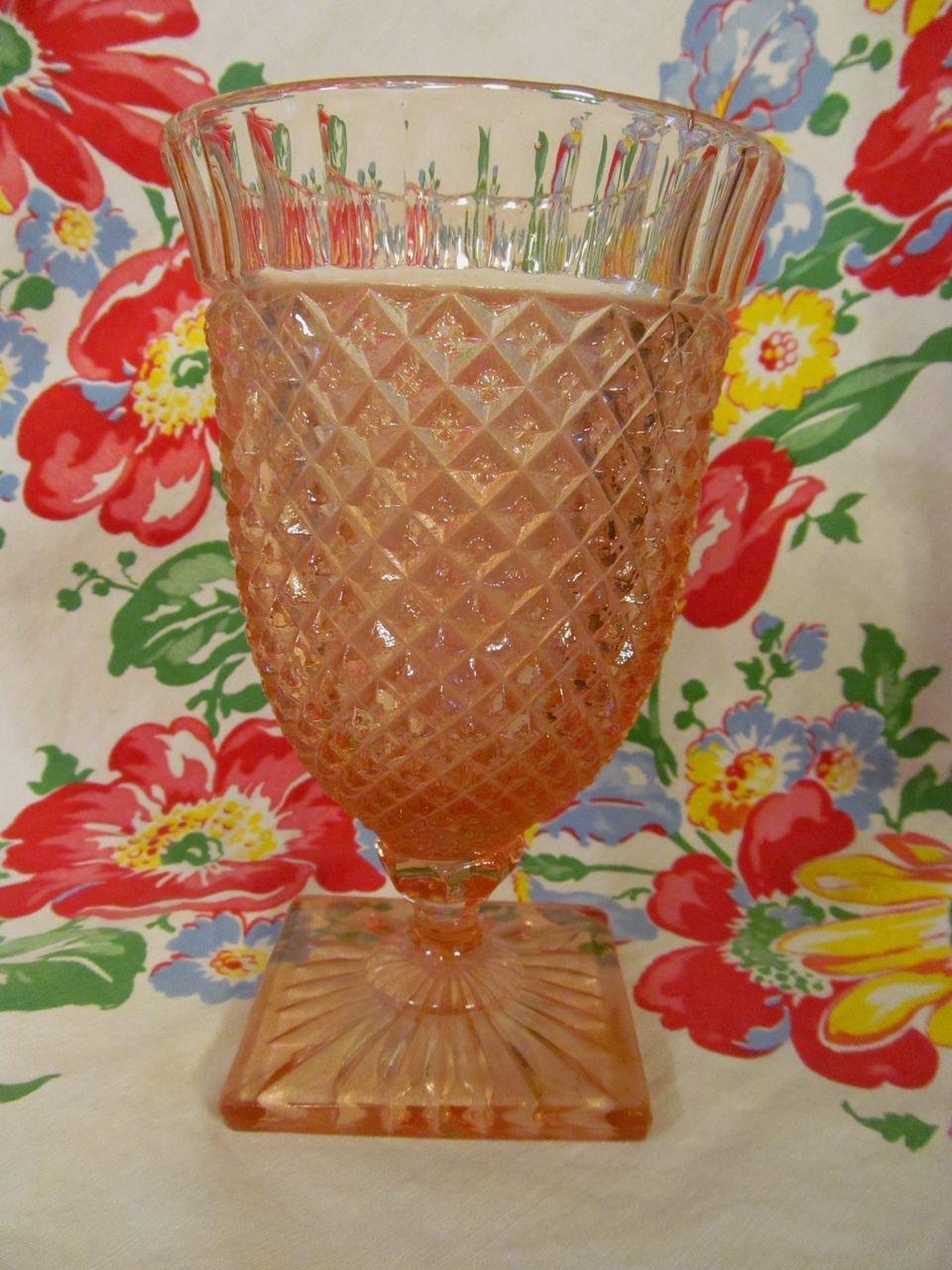 Pink Miss America Candy Jar Base, Hocking