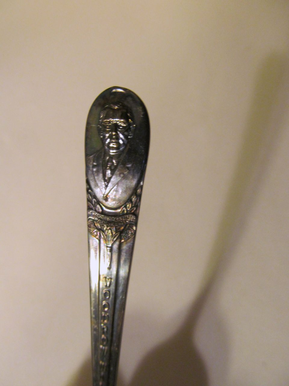 Wm Rogers, President Woodrow Wilson Presidential Spoon, Silverplate