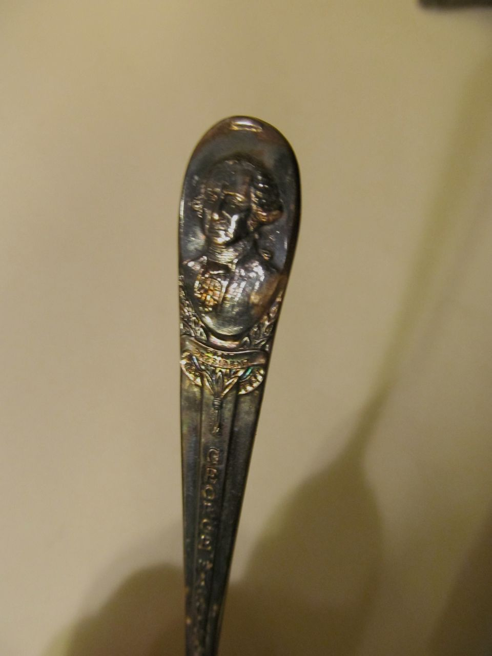 Wm Rogers, George Washington Presidential Spoon, Silverplate