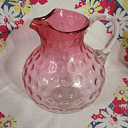 Lovely Rubina Inverted Thumbprint Pitcher