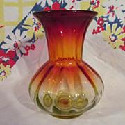 "Lovely Amberina 6 3/4"" Vase"