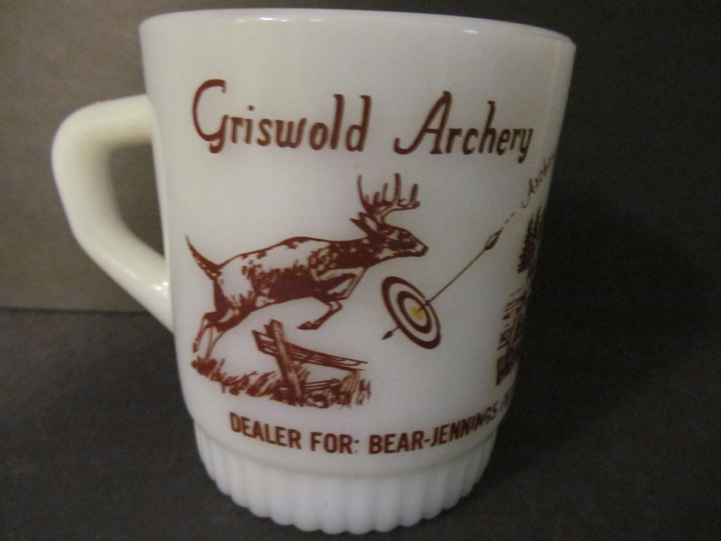 Fire King,Hocking Griswold Archery Stacking Mug