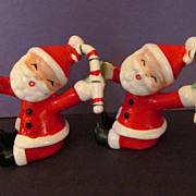 2 Napco Santa Candle Huggers