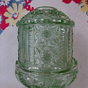 Indiana Light Green Candle, Fairy Light, Stars & Bars