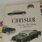 1953 Chrysler Sales Brochure,Windsor,New Yorker,Crown Imperial