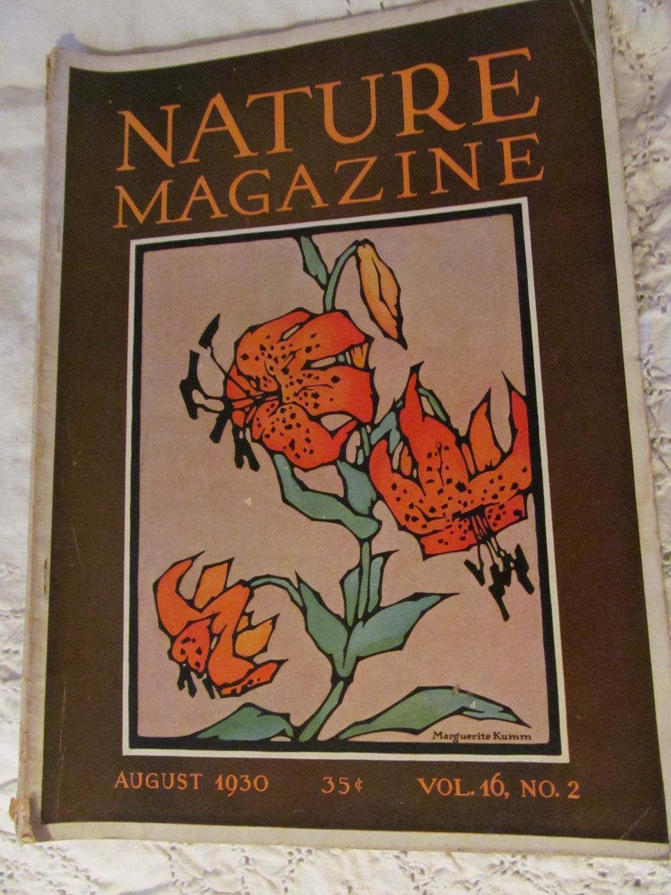 1930 Nature Magazine, August, Vol 16, No 2