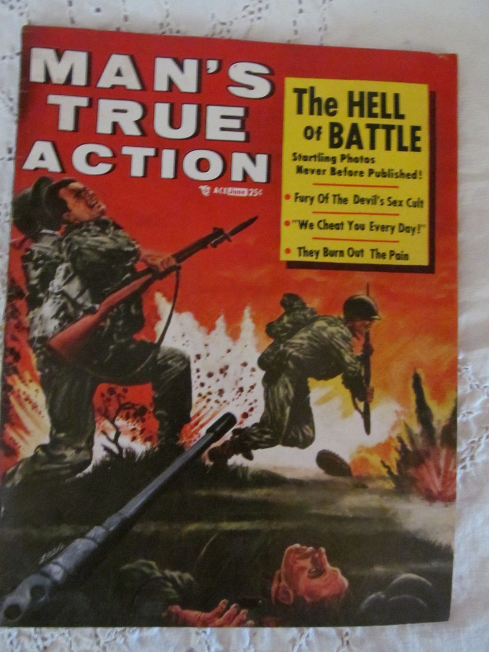 1956 Man's True Action, June Magazine