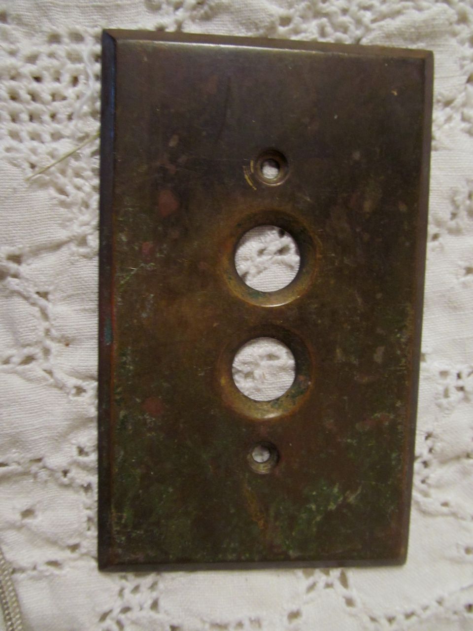 Brass Push Button Wall Plate, Arrow Electric Co