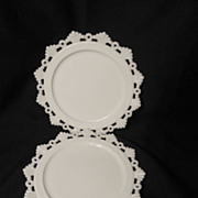 "2 Westmoreland MG Ring & Petal 8 1/4"" Plates"