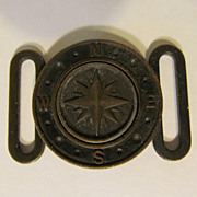 North & Judd Compass Belt Buckle, Anchor Mark