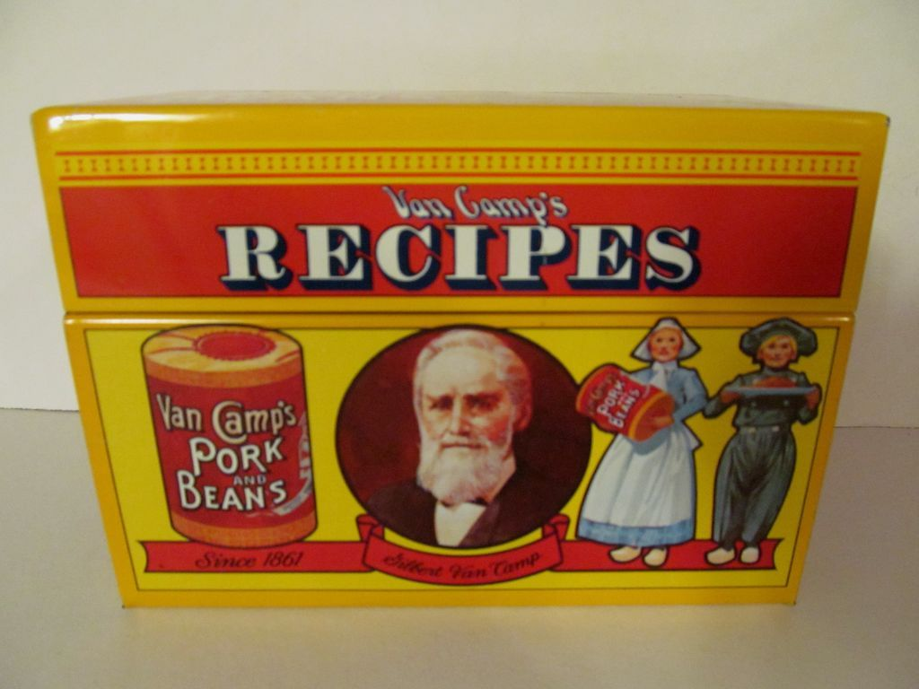 1986 Van Camps Metal Recipe Box, Limited Edition