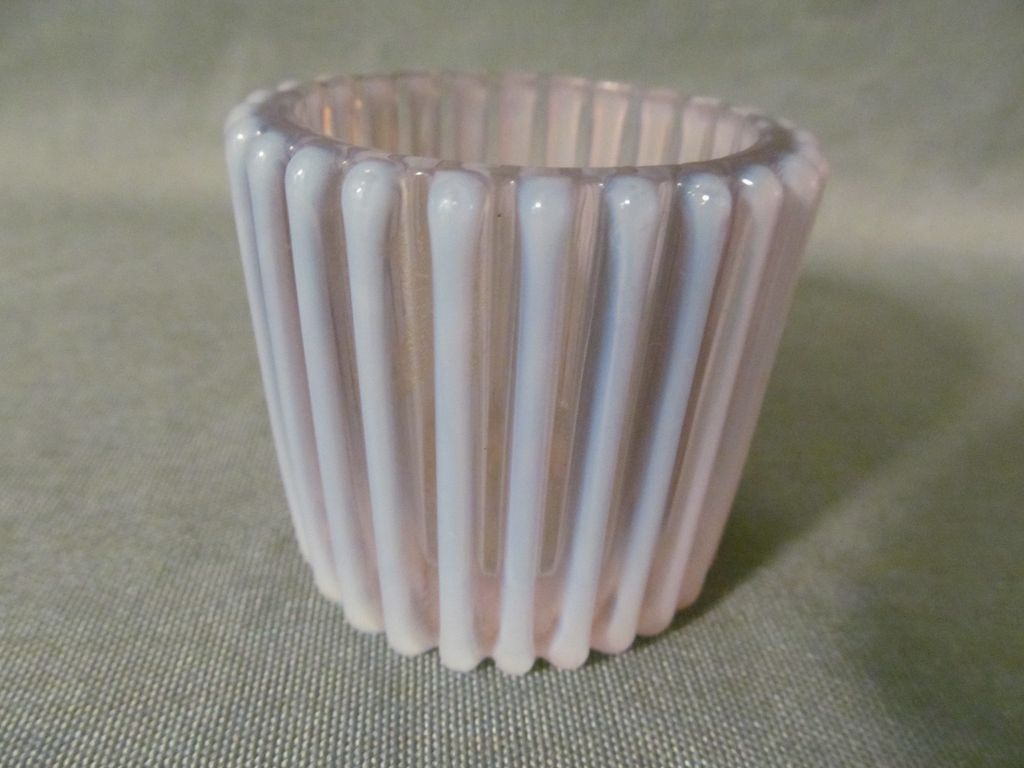 Beatty White Opalescent Toothpick Holder