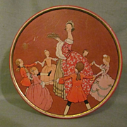 1923 Nabisco Fruit Cake Tin, Lady with Dancing Children