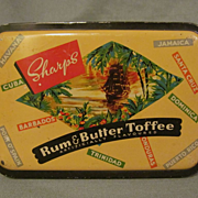 Sharpe's Rum & Butter Toffee Candy Tin, England