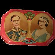 1939 King George VI & Queen Elizabeth Tin & Paper Napkin