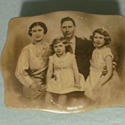 England King George VI,Queen Elizabeth Family Portrait Tin