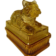 Victorian Amber Terrier Dog Covered Dish