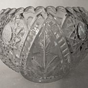 Large Pattern Glass Rose Bowl, Wheat,Starburst,Arch