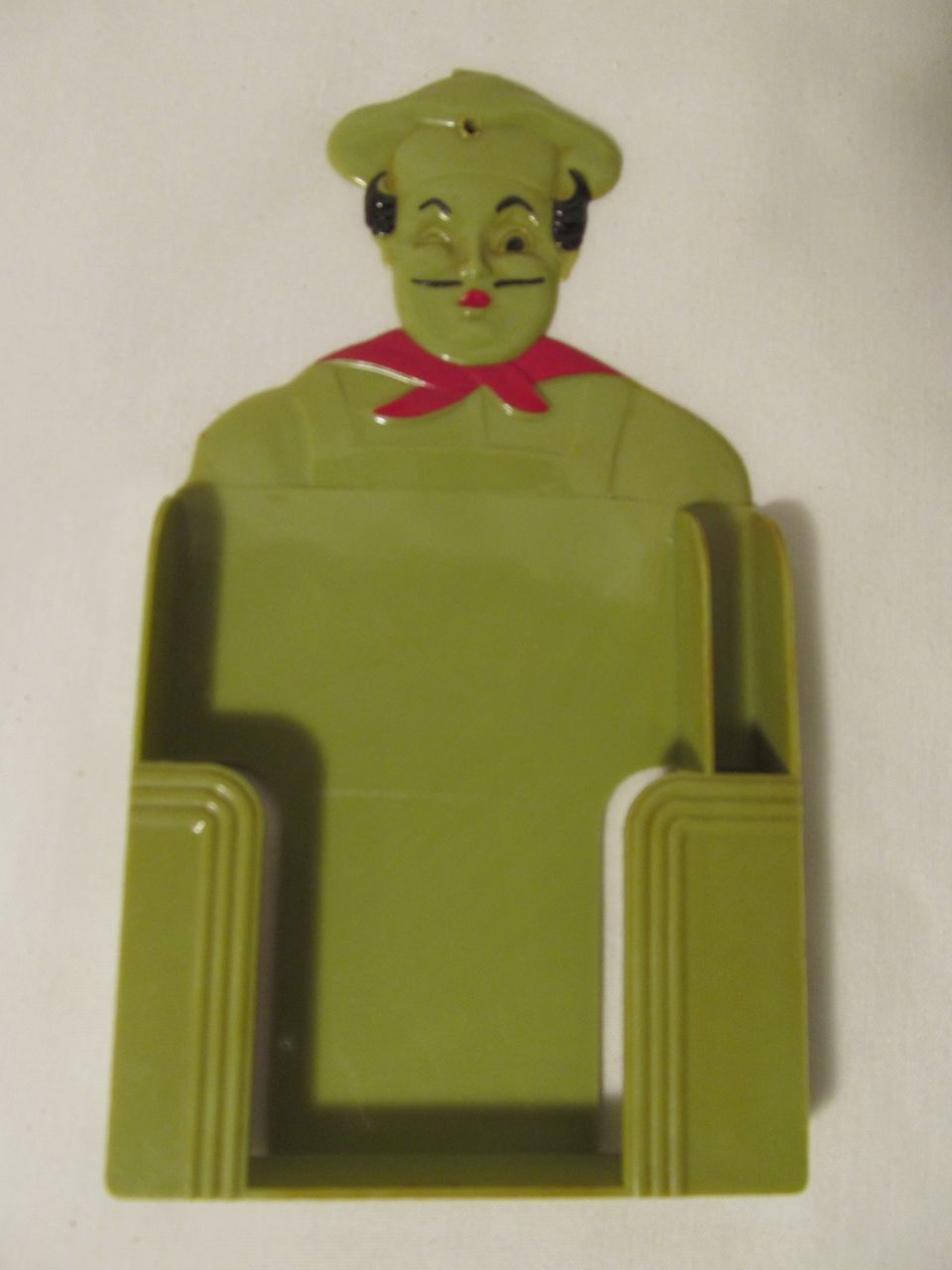 Plastic Chef Memo Pad and Pencil Holder