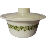 Pyrex Corning Crazy Daisy Butter Tub