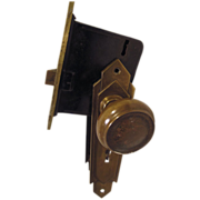 Brass Art Deco,Skyscraper Door Knob Set