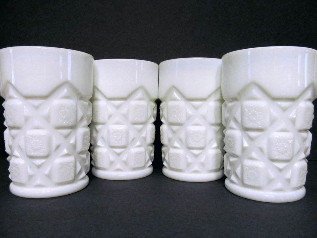 4 Old Quilt 5oz Tumblers, Westmoreland + 4 more