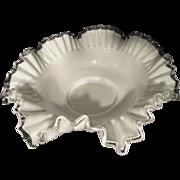 Fenton 13.5 Silver Crest Bowl