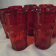 8 Viking Mt Vernon Ruby 12oz Tumblers