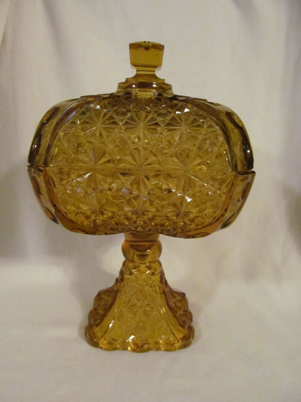 "EAPG 10.5"" Daisy & Button with Thumbprint Panel Compote by Adams & Co"