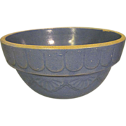 """Blue Pottery 10"""" Mixing Bowl with Design"""