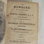 1827 The Rambler, Vol IV, Samuel Johnson, Woodward