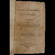 1837 The History of the Devil, 2 Volumes, David Talcott & Co Publishers