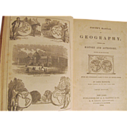 1854 Youth's Manual of Geography Combined with History and Astronomy by James Monteith, A S Barnes & Co