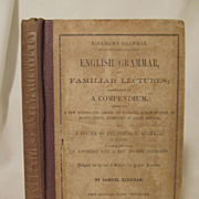 1857 English Grammer of Familiar Lectures with Fold Out, by Samuel Kirkham, Collins and Brothers Publishers