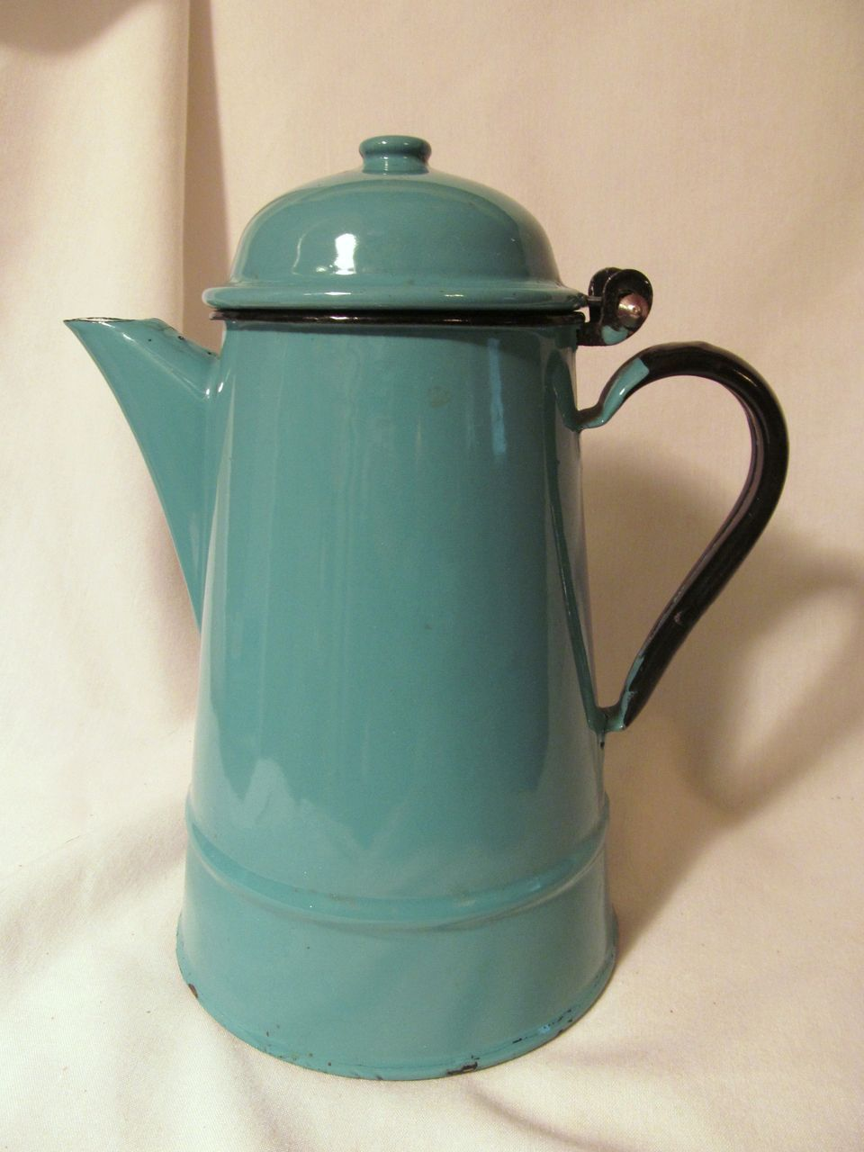 Blue Enamelware Coffee Pot, Poland