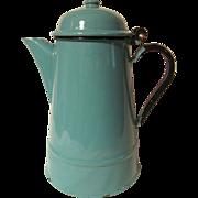 Blue Enamelware Coffee Pot, Poland