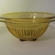 "Federal Amber 8 1/2"" Ribbed Mixing Bowl"