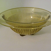 "Federal  7 3/4"" Amber Mixing Bowl"