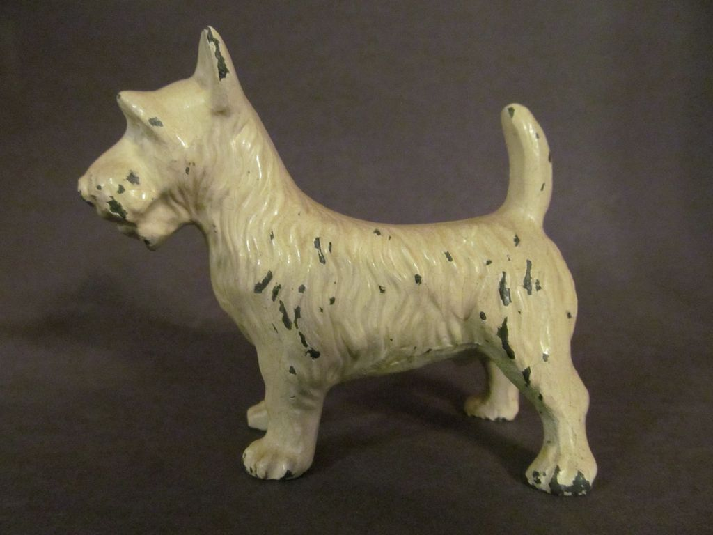 Cast Iron Scottie, Terrier Paperweight