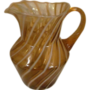 Fenton Cameo Opalescent, Spiral Optic 44oz Pitcher