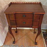 Mahogany Galley Top Table, Paw Feet
