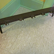 Wood Wall Shelf with Metal Holders, Fancy Cast Iron Shelf Brackets