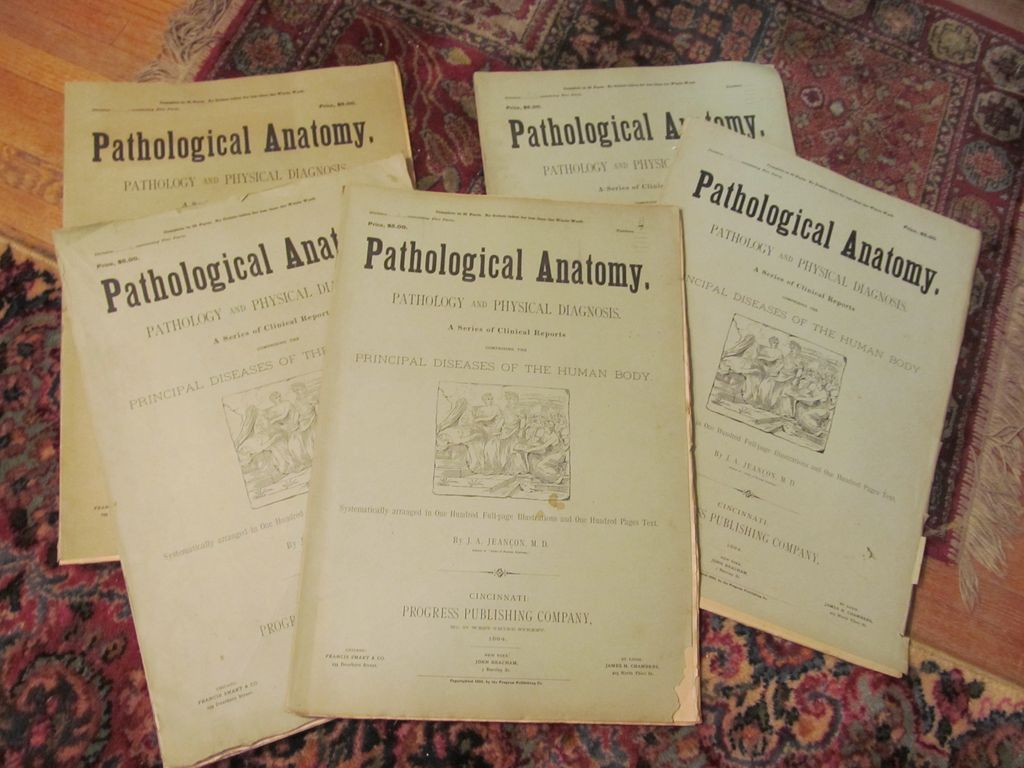 1883/84 Pathological Anatomy,Principle Diseases of the Human Body.. J A Jeancon, Progress Publishing Company,Illustrated