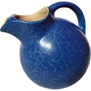 Vintage Rumrill Stippled Dutch Blue Ball Pitcher