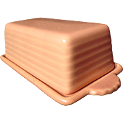 Franciscan El Patio Gloss Coral Covered Butter Dish